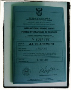 International Driving Permit South Africa All Airport